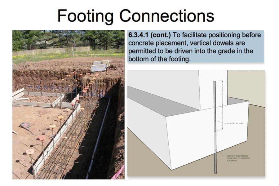 connecting footings concrete construction magazine