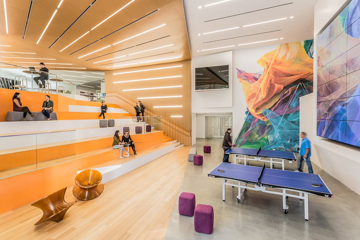 Adobe Headquarters Renovation Architect Magazine Gensler San Jose Ca Office Remodel Interiors Leed Platinum Projects