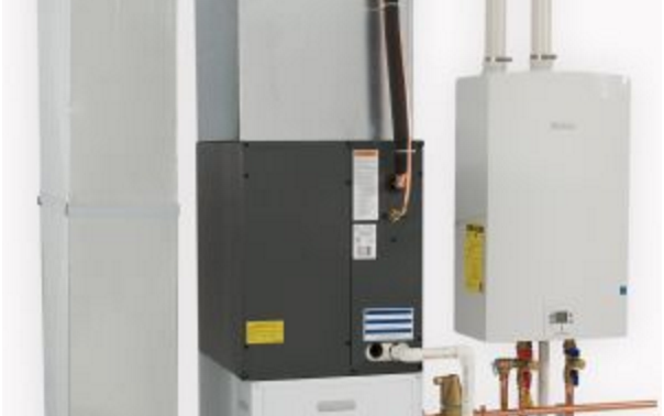 New Air Handler Works With Tankless Water Heater To Warm