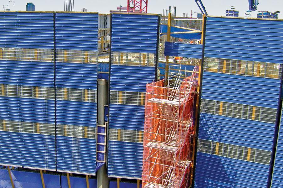 EFCO Forms' Power Shield Building Perimeter Protection