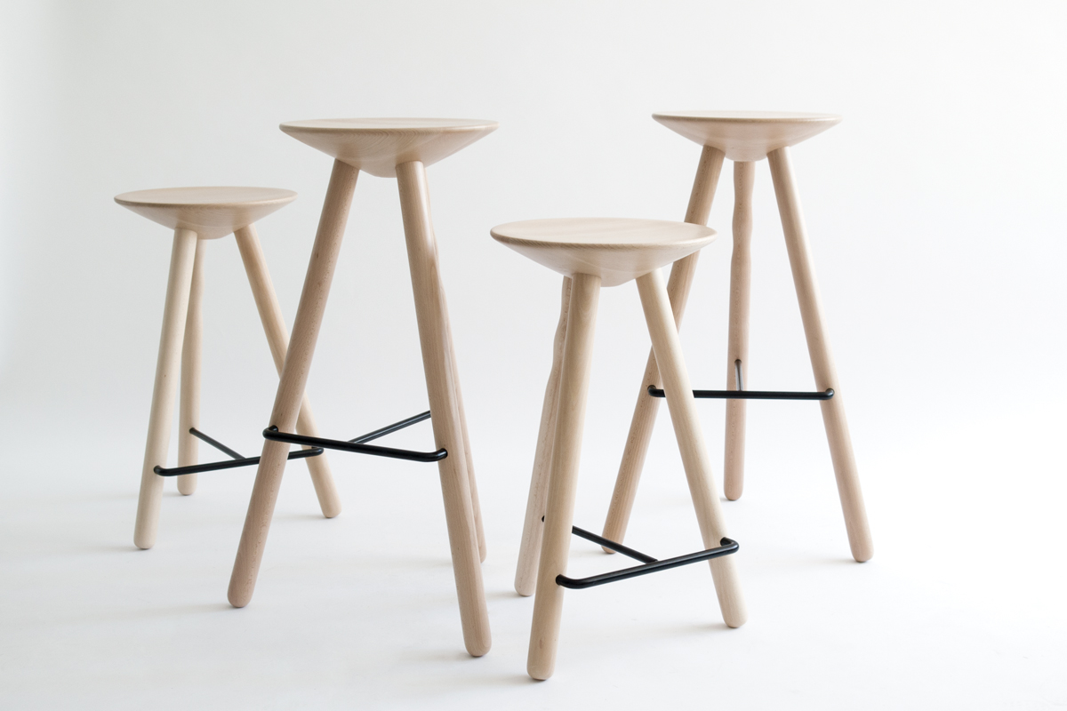 Six Sturdy Wooden Stools For Hospitality Architect