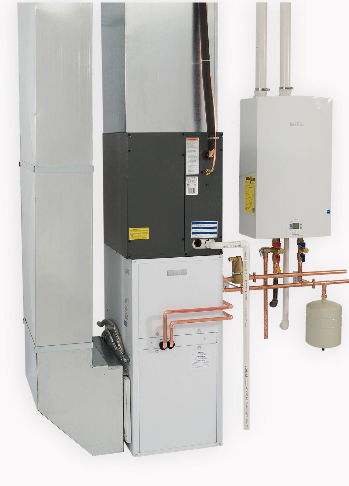 Air Handler Draws Warmth From Tankless Water Heater