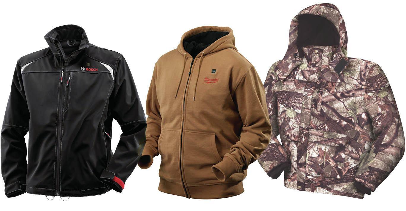 Cordless Heated Jackets From Bosch Dewalt And Milwaukee