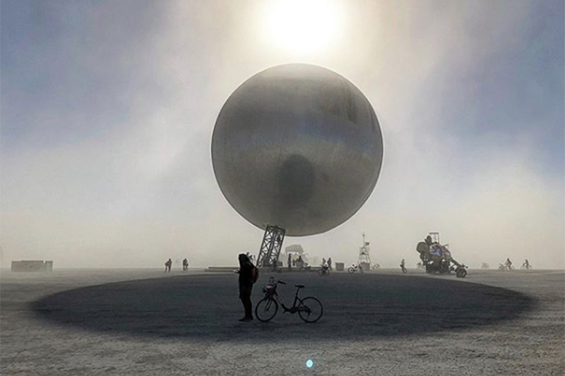 a0d4be87c7b A Reflective Orb by Bjarke Ingels and Jakob Lange Takes Shape on the Burning  Man Desert