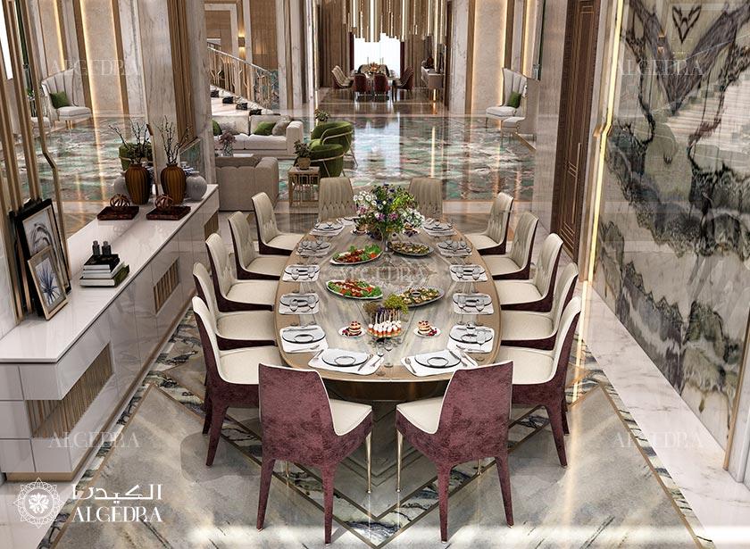 Stylish Dining Room In A Modern Luxury Villa Architect Magazine