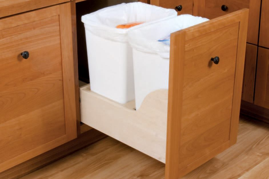 Recycling Center In A Kitchen Cabinet Drawer Jlc Online