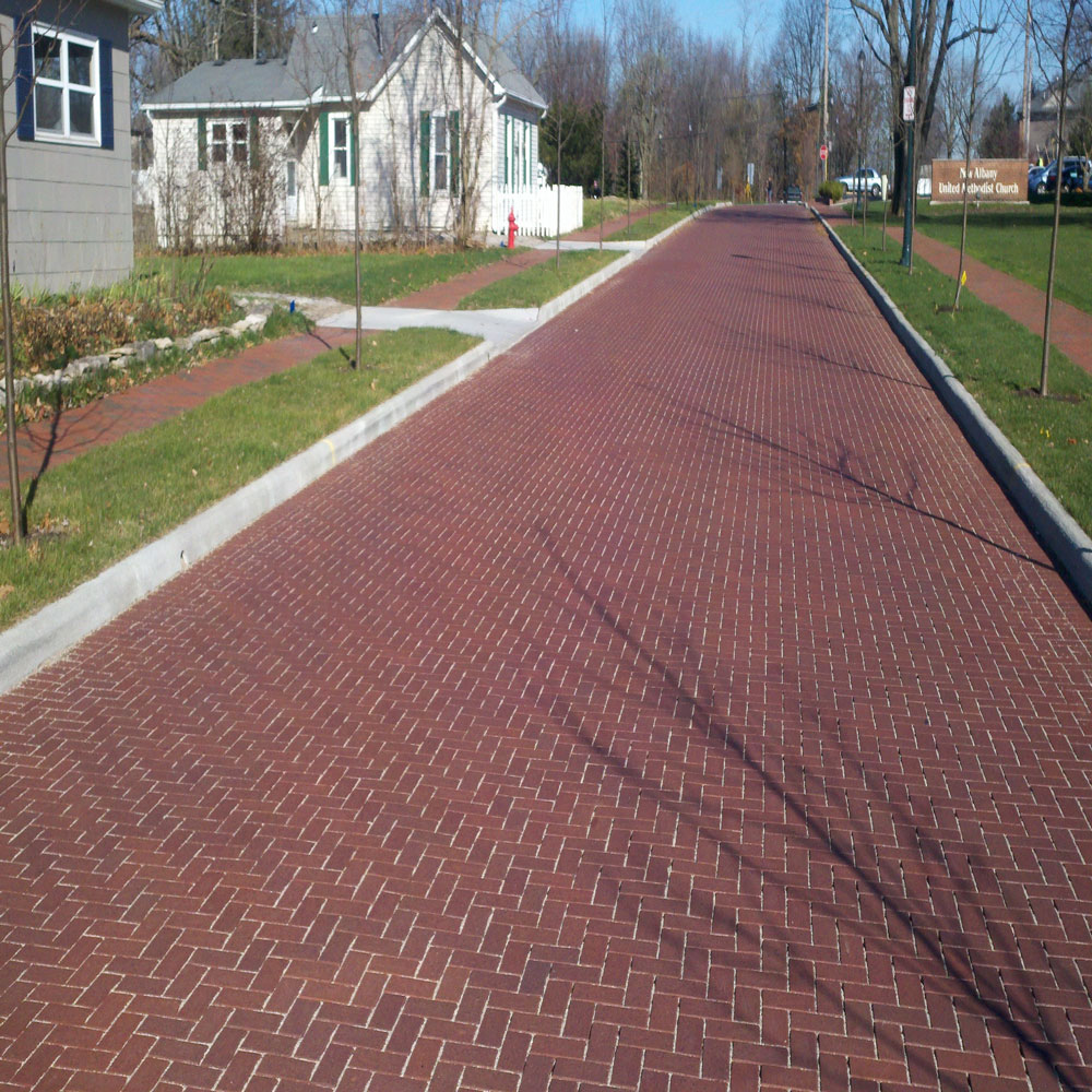 Permeable Clay Pavers For Streets Sidewalks Public Works