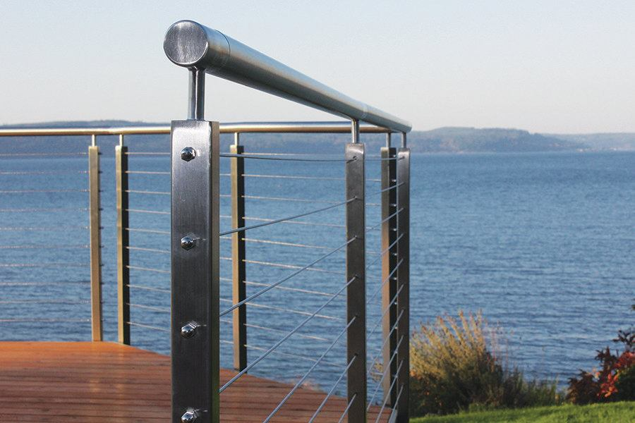 Ags Stainless Clearview Railing Professional Deck