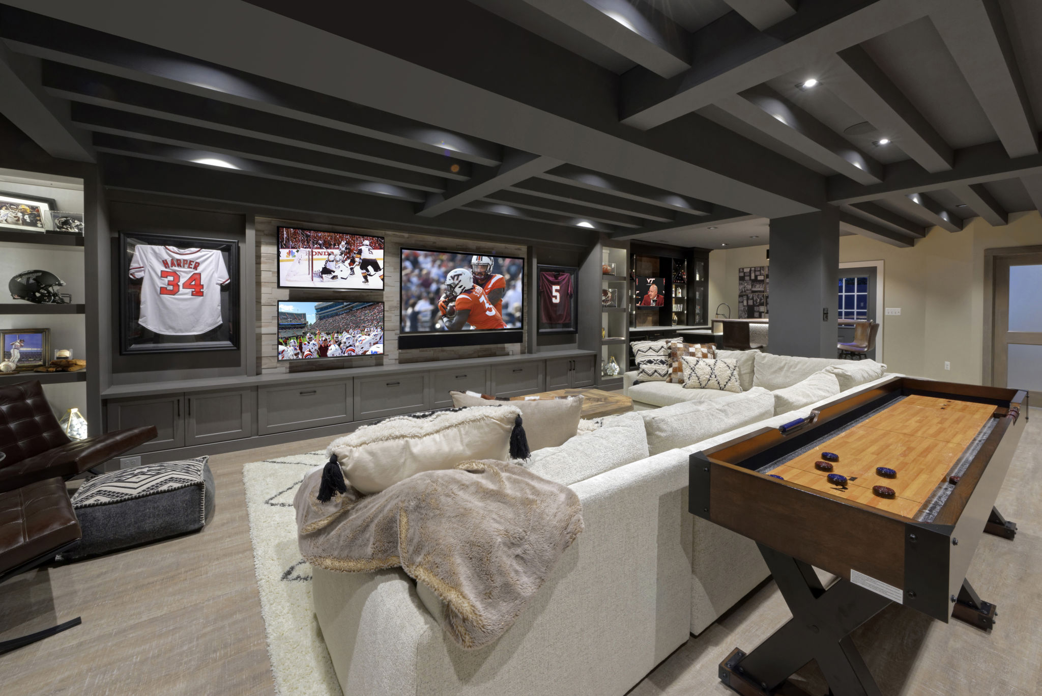 Sports Fan S Dream Finished Basement For Entertaining