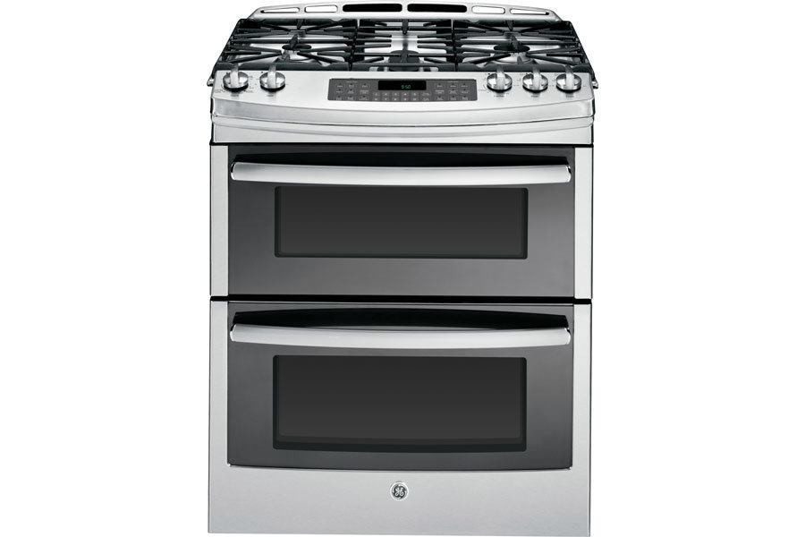 Ge Slide In Double Oven Gas Range Jlc Online Kitchen