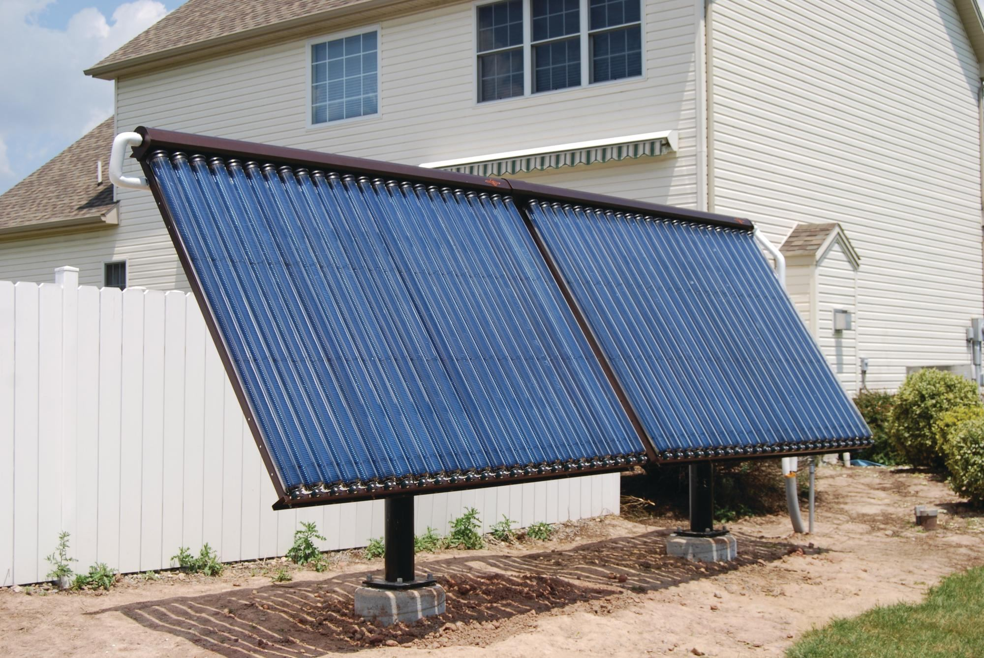Ground Mount Solar Water Kit From Earthnet Energy