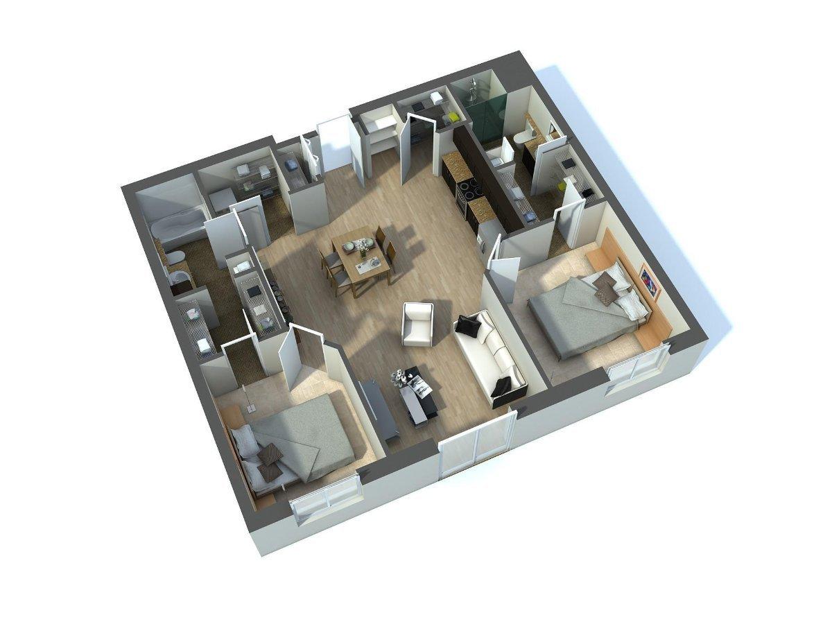 3d Floor Plan Rendering Los Angeles California Architect Magazine