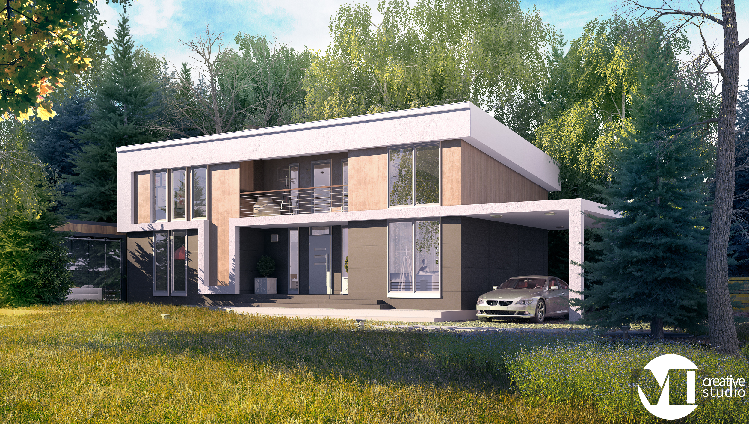Two Story Modern House   MD Creative Studio | Architect Magazine | MD Creative  Studio, Single Family, Exteriors, Residential Projects