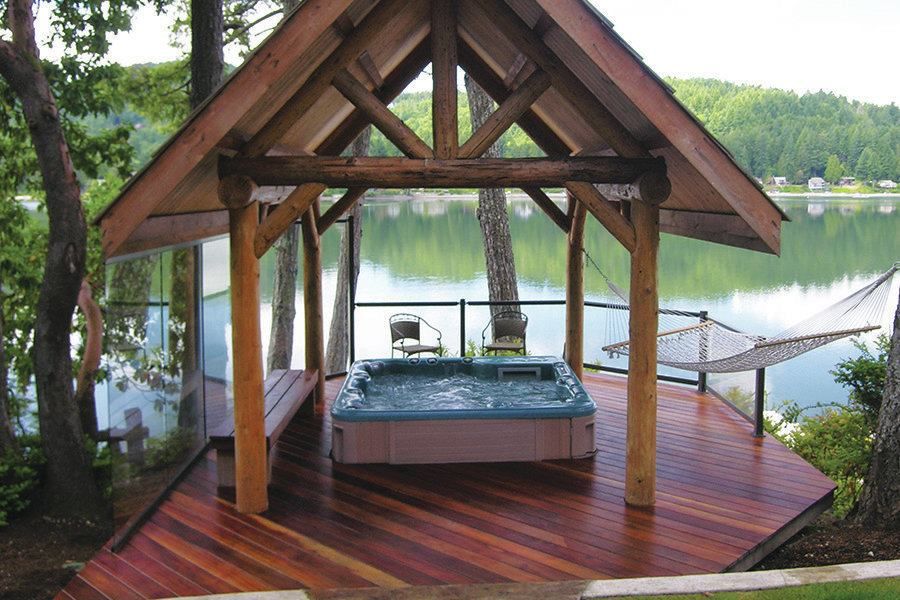 Successful hot tub planning professional deck builder for Types of hot tubs