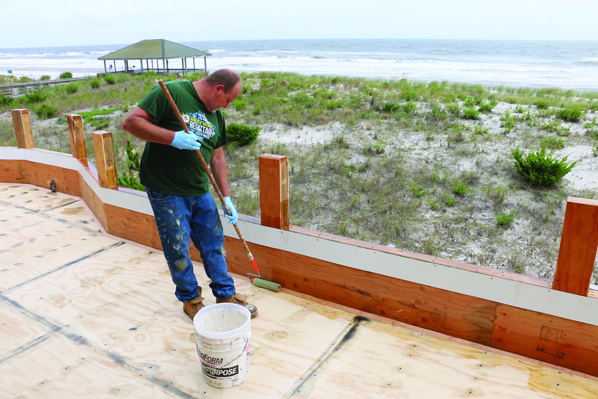 Installing Fiberglass Roof Decks Professional Deck