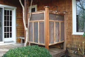 Designing outdoor showers professional deck builder - How to make an outdoor shower ...