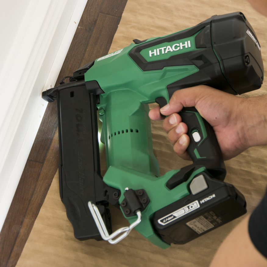 Two Hitachi Cordless Finish Nailers Tools Of The Trade