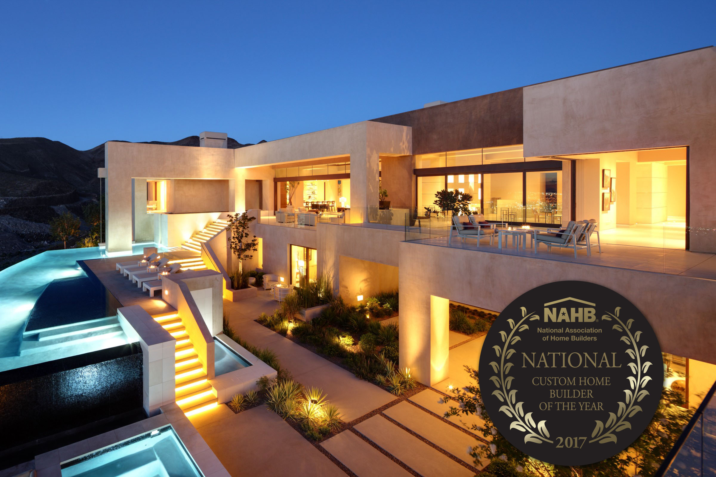 Merlin contracting celebrates nahb custom builder award for Custom home builder magazine