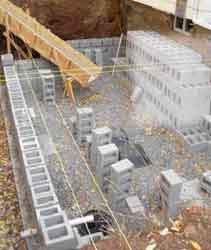 Building a block foundation jlc online foundation - Cinder block swimming pool construction ...
