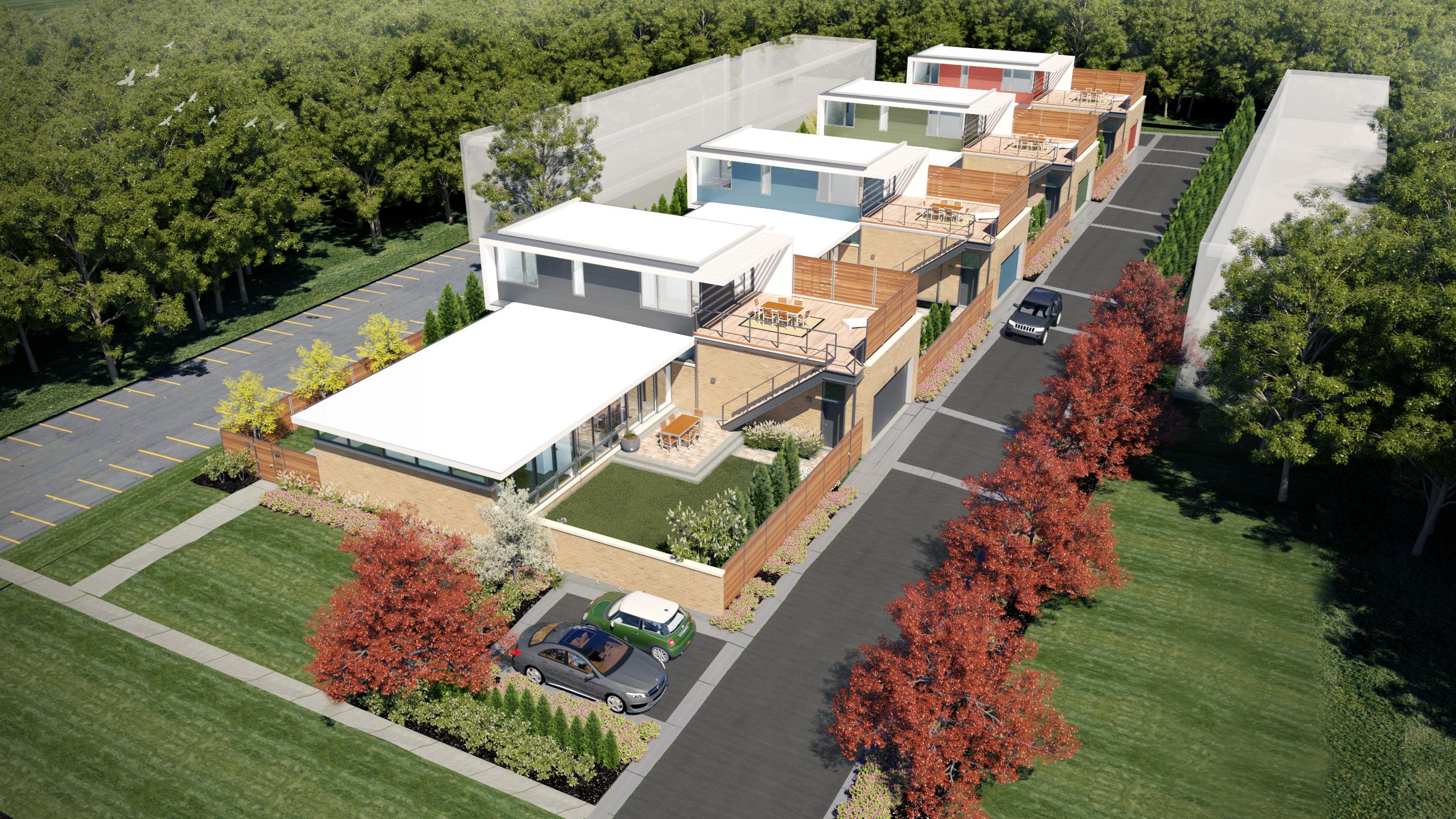 Highland park modern residential architect nicholas for Modern view decking