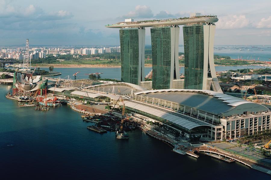 Marina bay sands architect magazine hospitality projects caulks adhesives and sealants - Bay architecture ...