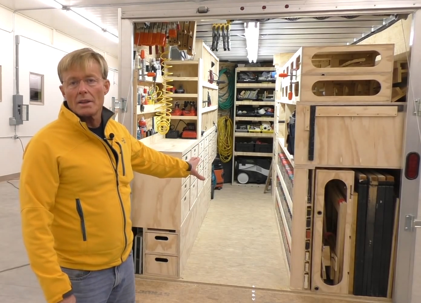 An Amazing Portable Woodshop Tools Of The Trade Fleets Trucks