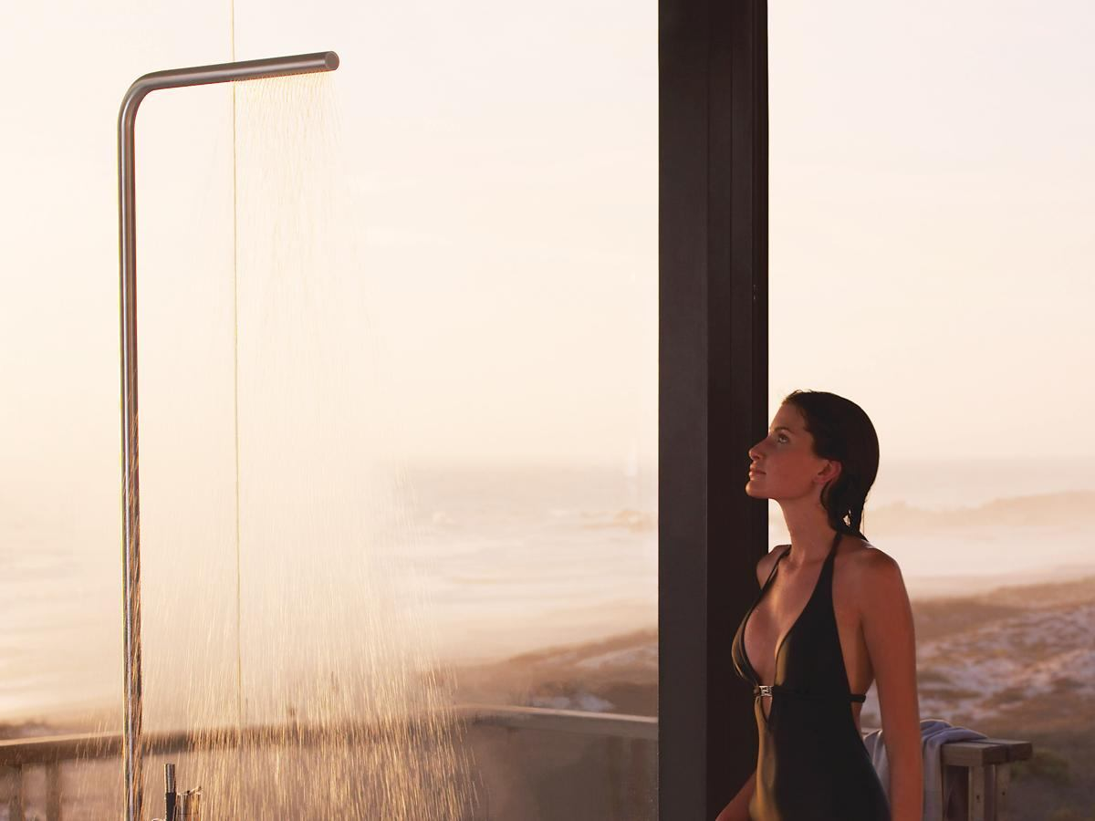 The Fs3 Freestanding Shower By Vola Residential