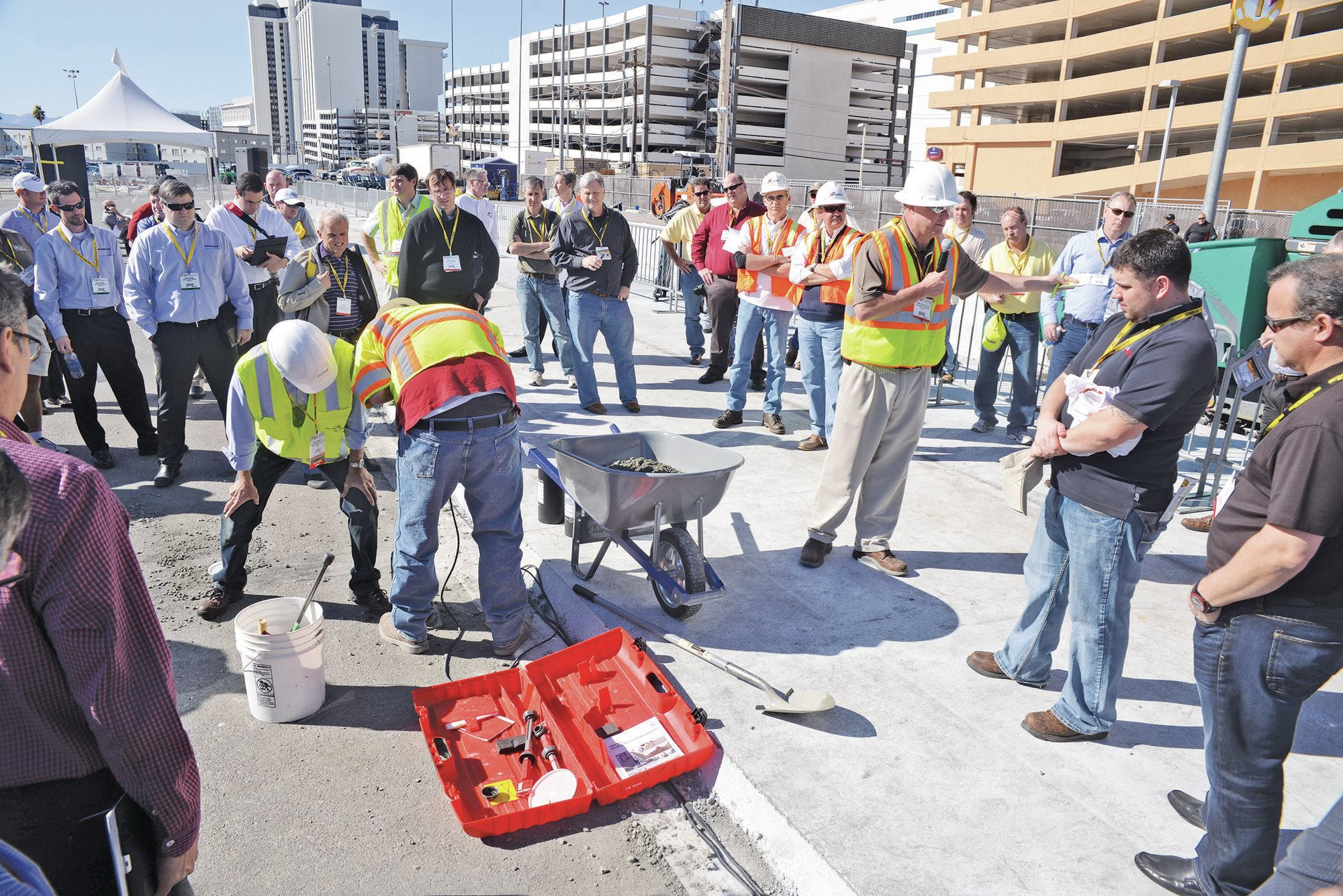 Roller Compacted Concrete Morgan Corp : Rcc live event at world of concrete converts contractors
