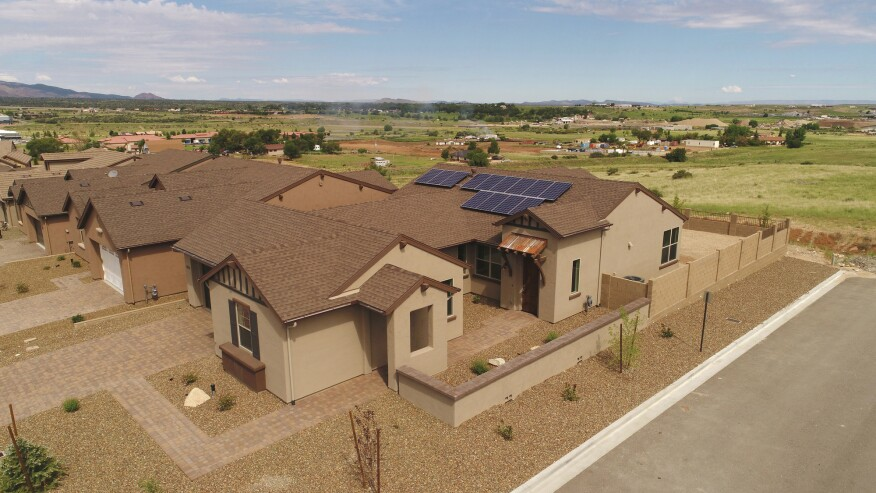 Mandalay's 2017 Discovery Home in Prescott, Ariz., showcased a range of cutting-edge technologies including solar panels and solar battery storage.