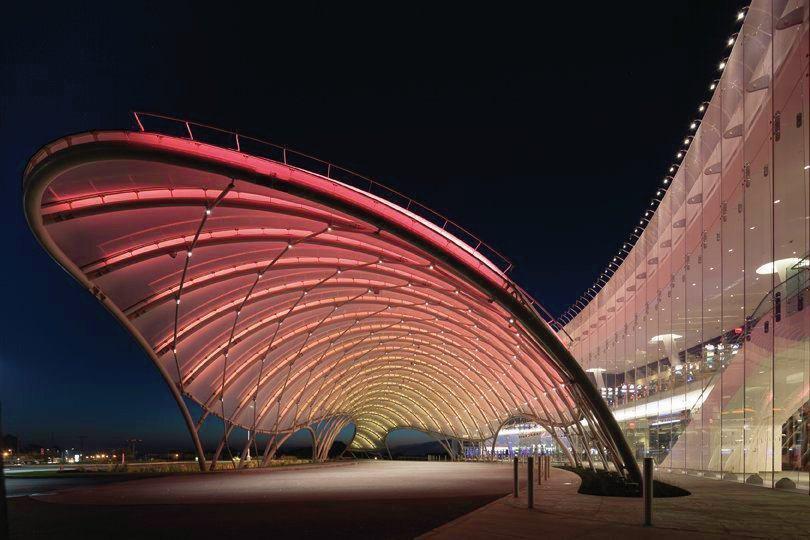 Glass Building Light : Al design awards yonkers casino n y