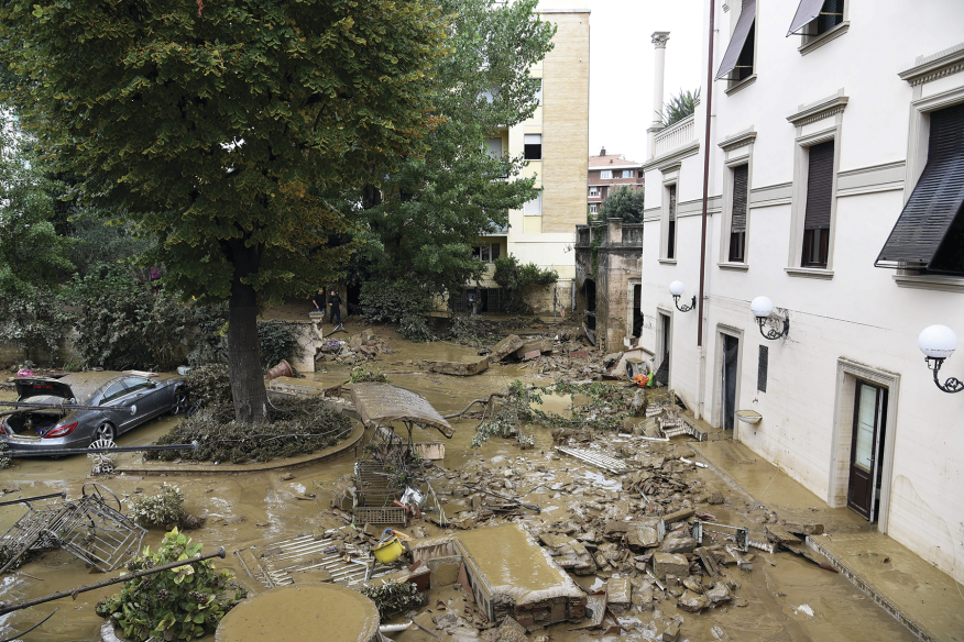 Increasingly heavy precipitation is a highly visible outcome of climate change. Hurricane Harvey dumped more than 49 inches of rain on East Texas in August, and downpours last month triggered floods in Tuscany and the Italian city of Livorno (pictured), killing at least six people. If we don't reduce CO2 emissions, by 2100 the frequency [PDF] of local 100-year floods could increase 3,467-fold.