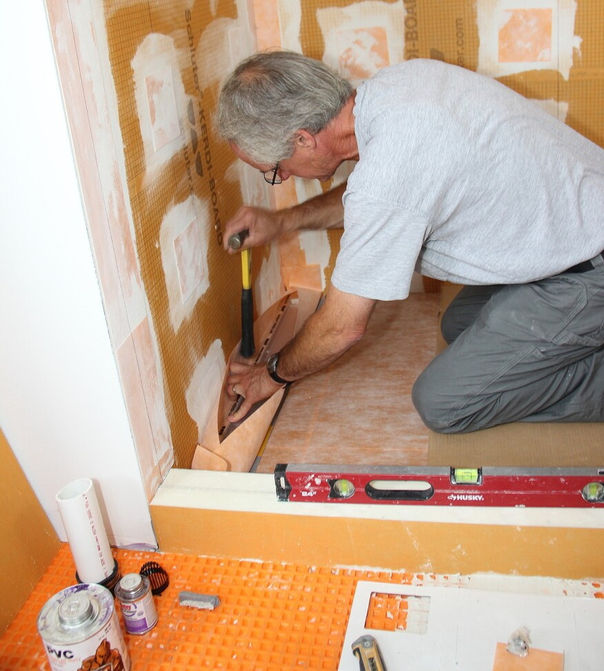 A Sloped Shower Floor And Linear Drain Jlc Online Tile Plumbing