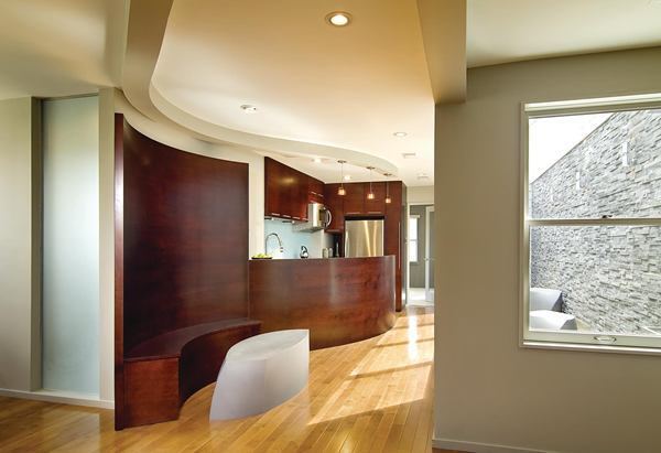 Apartment Living: Small-Space Genius With Curved Wall for Special ...