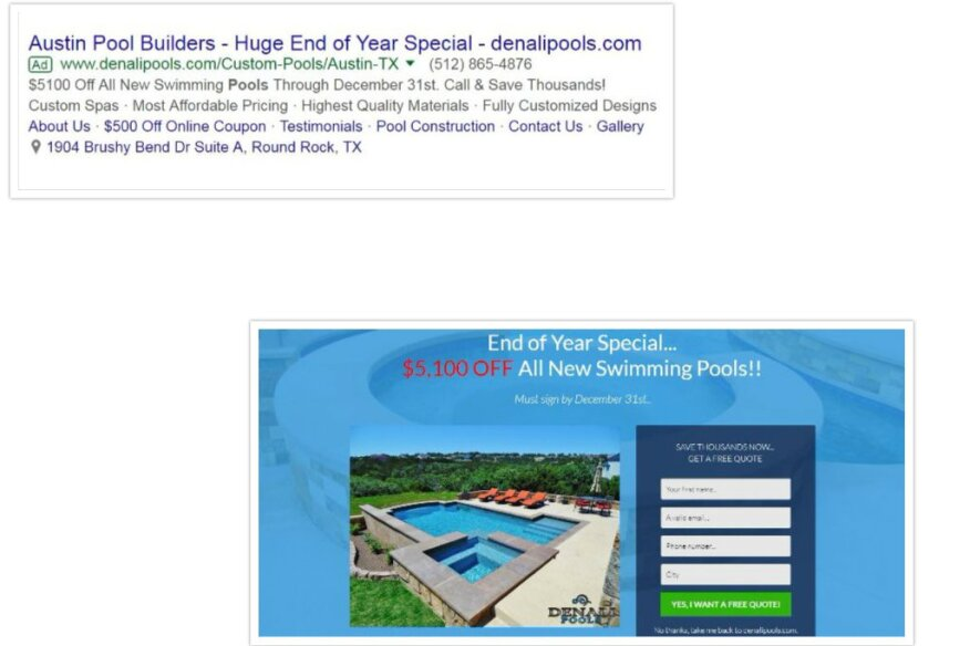 Four Adwords Commandments For Pool Builders