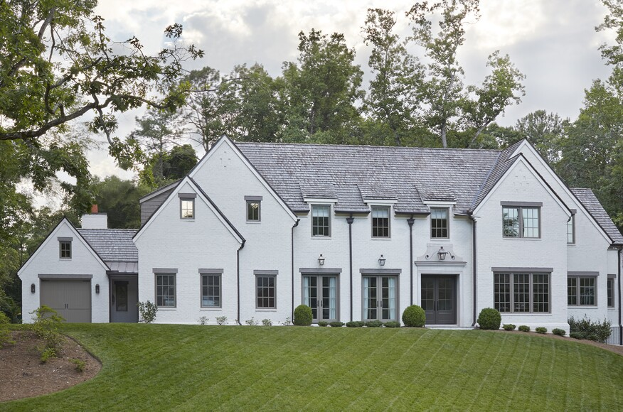 Transitional french farmhouse residential architect for Atlanta residential architects