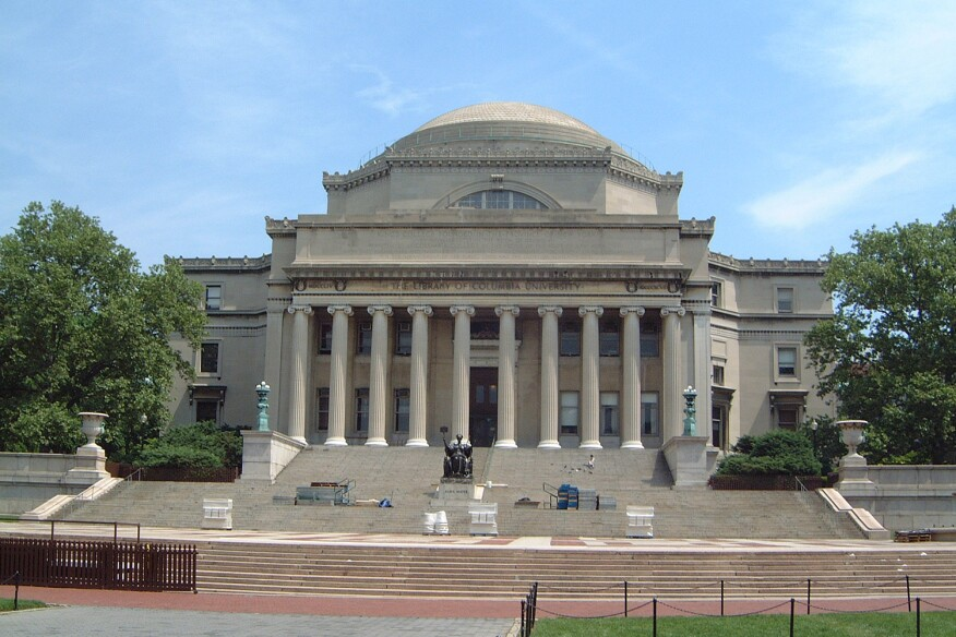 The Low Memorial Library Of Columbia University