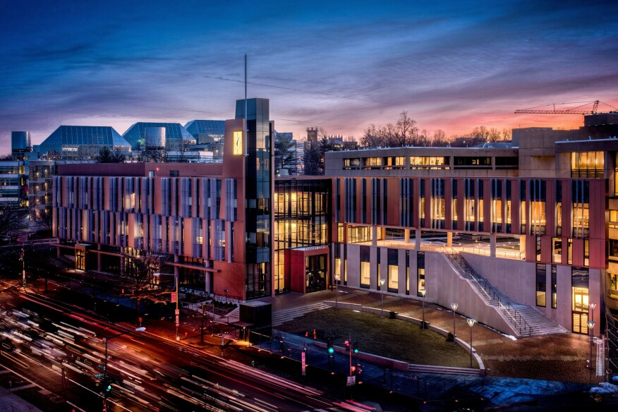 The University of the District of Columbia's student center, designed by Michael Marshall Design and CannonDesign