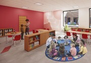 JCC's playroom overlooks the outside playground