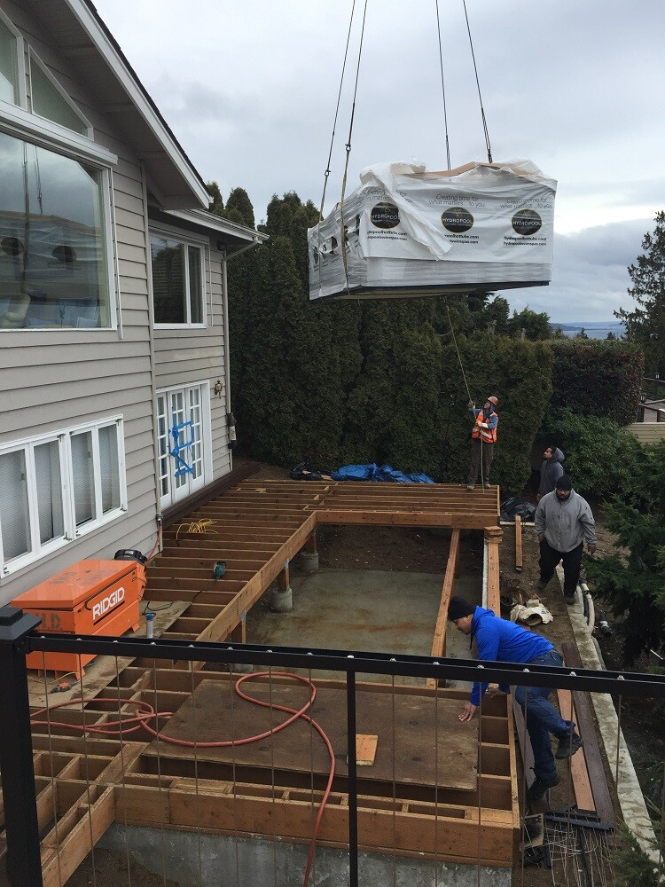 Installing A Swim Spa Professional Deck Builder