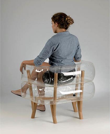inflatable furniture. Image Via Tehila Guy Inflatable Furniture O