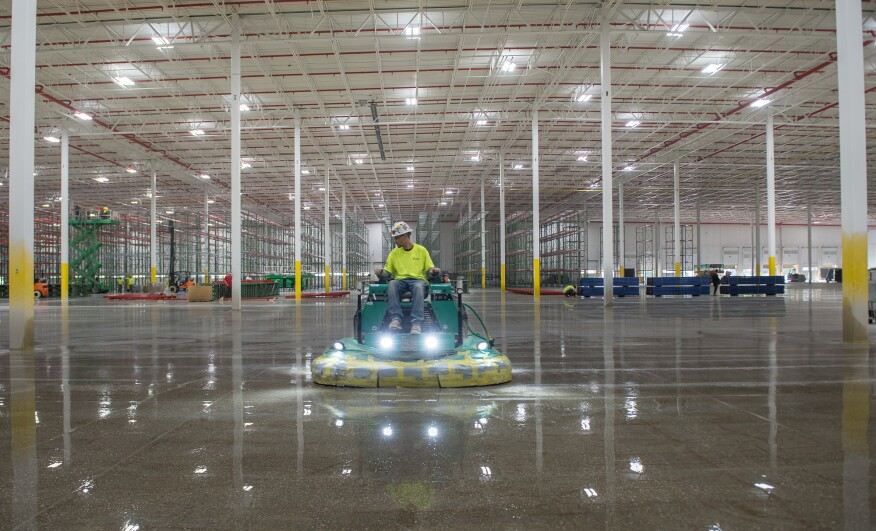 Big Polished Concrete Project Requires Big Planning