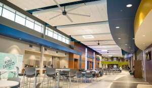 Southeast Technical Institute in Sioux Falls, SD had several MacroAir Fans installed into their student center and technology lab. The fans help circulate the air within the building, which helps eliminate contaminates and activate student wellness.