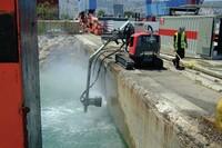 高压水可以轻松去除旧混凝土
