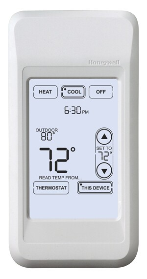 how to set temperature range on honeywell thermostat