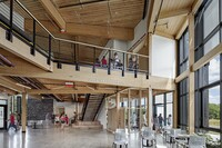 Detail: The R.W. Kern Center's Minimalist Timber Structure