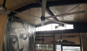 Crave Café in Australia had a MacroAir large ceiling fan installed into their café space. They are able to effectively cool off their customers and reduce the amount of energy spent on HVAC.