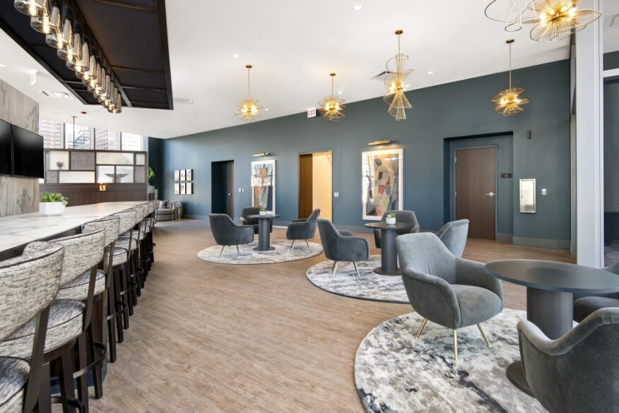 K. Tyler, director of interior design at Morgante-Wilson Architects, is confident that  727 West Madison's amenity spaces can accommodate social distancing through design.