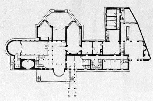 Floor plan ground floor. Palais Stoclet, 1905-1911. Architect: Josef Hoffmann
