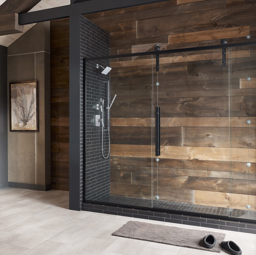 Glass Barn Door Shower Doors.Coastal Shower Doors Introduces New Shower Barn Door Series