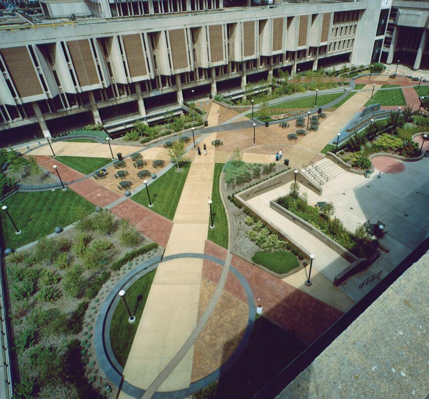 Cleveland State University Plaza Cleveland Concrete